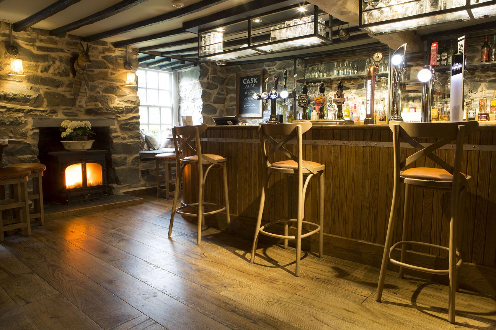 A wonderful drinks selection in Gwynedd